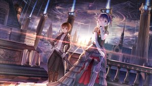 Rating: Safe Score: 193 Tags: building chuunibyou_demo_koi_ga_shitai! city dress gloves goth-loli headdress lolita_fashion red_flowers short_hair sunset sword takanashi_rikka thighhighs togashi_yuuta umbrella weapon wristwear User: Wiresetc