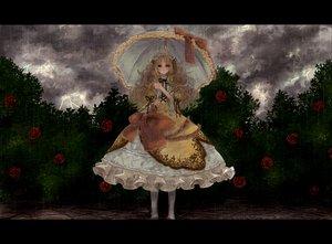 Rating: Safe Score: 117 Tags: blonde_hair brown_eyes dress flowers lolita_fashion long_hair original pisuke rain rose umbrella water User: HawthorneKitty