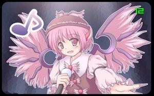 Rating: Safe Score: 18 Tags: animal_ears hat microphone mystia_lorelei pink_eyes pink_hair short_hair touhou wings User: Oyashiro-sama