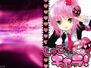 Rating: Safe Score: 56 Tags: hinamori_amu jpeg_artifacts peach-pit pink pink_hair ran_(shugo_chara) school_uniform short_hair shugo_chara tie yellow_eyes User: Oyashiro-sama