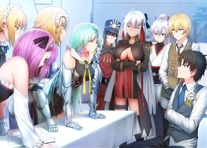 Rating: Safe Score: 55 Tags: aqua_hair armor billy_the_kid_(fate/grand_order) black_hair blonde_hair book breasts brynhildr_(fate/grand_order) dress elbow_gloves fate/grand_order fate_(series) fujimaru_ritsuka_(male) garter ginhaha gloves group hat headdress headphones helena_blavatsky_(fate) japanese_clothes jeanne_d'arc_(fate) long_hair maid male nobukatsu_oda_(fate) parody pink_eyes ponytail purple_eyes purple_hair red_eyes saber saber_alter sakura_saber sakura_saber_alter short_hair skirt thighhighs tie tomoe_gozen white_hair yellow_eyes User: RyuZU