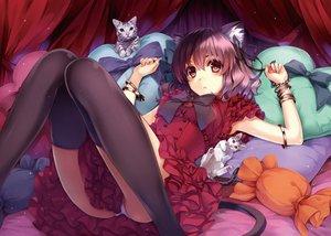 Rating: Safe Score: 52 Tags: animal animal_ears ass bow cat catgirl dress jpeg_artifacts misaki_kurehito original panties pink_hair red_eyes tail thighhighs underwear wristwear User: mattiasc02