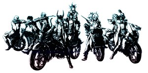 Rating: Safe Score: 33 Tags: bartz_klauser cecil_harvey cloud_strife dissidia_final_fantasy final_fantasy firion male motorcycle onion_knight polychromatic squall_leonhart terra_branford tidus warrior_of_light white zidane_tribal User: haru3173