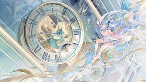 Rating: Safe Score: 63 Tags: atdan barefoot blue_eyes blue_hair breasts butterfly cangqiong cleavage dress long_hair synthesizer_v wristwear User: BattlequeenYume