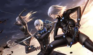 Rating: Safe Score: 66 Tags: blue_eyes bodysuit breasts cosplay gantz gloves gray_hair katana liang_xing long_hair male nier nier:_automata short_hair spear sword thighhighs weapon yorha_unit_no._2_type_a yorha_unit_no._2_type_b yorha_unit_no._9_type_s User: BattlequeenYume