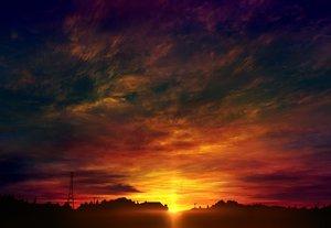 Rating: Safe Score: 65 Tags: clouds mks nobody original scenic silhouette sky sunset User: RyuZU