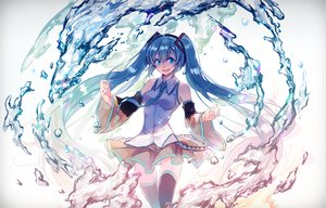 Rating: Safe Score: 87 Tags: aqua_eyes aqua_hair bubbles ego hatsune_miku long_hair skirt thighhighs tie twintails vocaloid water zettai_ryouiki User: Flandre93
