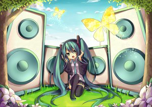Rating: Safe Score: 52 Tags: amane_kurumi hatsune_miku twintails vocaloid User: HawthorneKitty