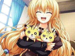 Rating: Safe Score: 99 Tags: akatsuki_no_goei blonde_hair game_cg kurayashiki_tae long_hair school_uniform syangrila tomose_shunsaku User: 秀悟