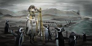 Rating: Safe Score: 42 Tags: animal arknights even_(even_yiwen) magallan_(arknights) penguin watermark User: Dreista