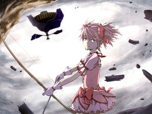 Rating: Safe Score: 16 Tags: bow bow_(weapon) kaname_madoka mahou_shoujo_madoka_magica pink_hair weapon User: HawthorneKitty