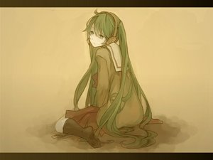 Rating: Safe Score: 45 Tags: green_eyes green_hair hatsune_miku headphones long_hair polychromatic school_uniform shutane twintails vocaloid yellow User: HawthorneKitty