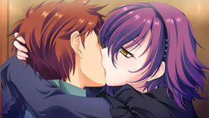 Rating: Safe Score: 45 Tags: astraythem game_cg ginta headband kiss male nagi_kuurin sakurazuka_tsukumo short_hair yellow_eyes User: Maboroshi