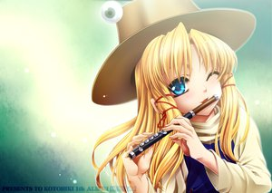 Rating: Safe Score: 27 Tags: blonde_hair blue_eyes flute hat instrument moriya_suwako touhou User: HawthorneKitty