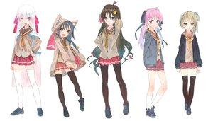 Rating: Safe Score: 115 Tags: bow karei_(hirameme) original school_uniform thighhighs User: FormX