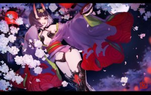 Rating: Safe Score: 39 Tags: cherry_blossoms demon fate/grand_order fate_(series) flowers horns japanese_clothes k_(sktchblg) navel shuten_douji_(fate) User: BattlequeenYume