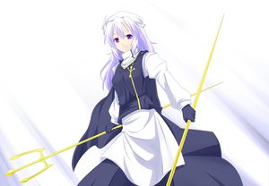 Rating: Safe Score: 26 Tags: drought gloves letty_whiterock long_hair purple_eyes purple_hair touhou weapon white User: Aesyl