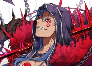 Rating: Safe Score: 11 Tags: all_male blue_hair chain close cu_chulainn cu_chulainn_alter_(fate/grand_order) dpea9 fate/grand_order fate_(series) long_hair male orange_eyes tattoo User: RyuZU