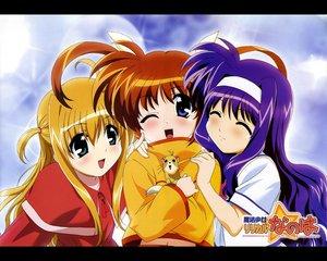 Rating: Safe Score: 16 Tags: alisa_bannings animal blonde_hair blue_eyes blue_hair blush brown_hair headband mahou_shoujo_lyrical_nanoha mahou_shoujo_lyrical_nanoha_a's takamachi_nanoha tsukimura_suzuka yuuno_scrya User: Oyashiro-sama