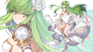 Rating: Safe Score: 80 Tags: armor breasts cc code_geass creayus dress erect_nipples green_hair long_hair skirt_lift thighhighs yellow_eyes zoom_layer User: RyuZU