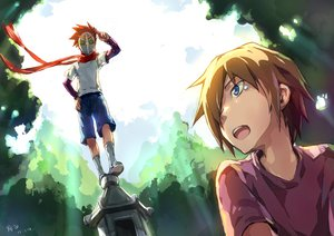 Rating: Safe Score: 36 Tags: all_male blonde_hair blue_eyes danshi_koukousei_no_nichijou linjie male red_hair scarf short_hair tabata_hidenori tears User: PAIIS