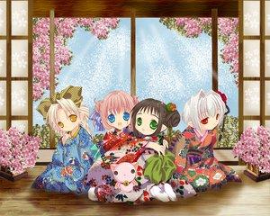 Rating: Safe Score: 8 Tags: bottle_fairy chiriri hororo kururu oboro pointed_ears sarara tokumi_yuiko User: Oyashiro-sama