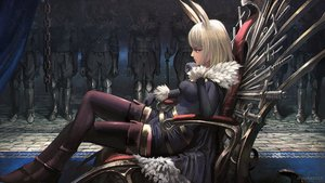 Rating: Safe Score: 39 Tags: animal_ears black_eyes blonde_hair boots bunny_ears garter gloves noba original pixiv_fantasia shorts sword thighhighs watermark weapon User: FormX