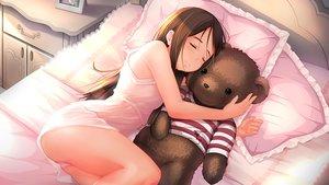 Rating: Safe Score: 213 Tags: ass bed brown_hair feihong long_hair original pajamas panties signed sleeping teddy_bear underwear User: RyuZU