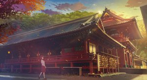 Rating: Safe Score: 32 Tags: building kamo_nasus. original scenic shrine sunset User: FormX