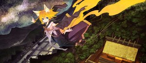 Rating: Safe Score: 186 Tags: animal_ears blonde_hair blue_eyes building foxgirl japanese_clothes kagamine_rin kitsune_(kazenouta) landscape night scenic short_hair sky stars tail vocaloid User: RyuZU