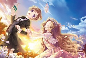 Rating: Safe Score: 12 Tags: brown_hair clouds code_geass flowers headdress loli long_hair male nunnally_lamperouge petals phone purple_eyes rollo_lamperouge short_hair shorts sky suit sunset tagme_(artist) User: luckyluna