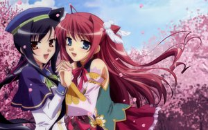 Rating: Safe Score: 50 Tags: kanu koihime_musou long_hair petals ryuubi tagme User: pantu