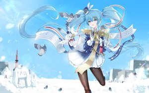 Rating: Safe Score: 56 Tags: hatsune_miku kyod+ long_hair signed snow twintails vocaloid yuki_miku User: sadodere-chan