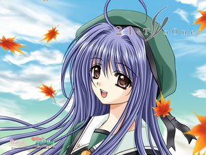 Rating: Safe Score: 7 Tags: 21 blue_hair brown_eyes futami_mio long_hair seifuku User: oranganeh