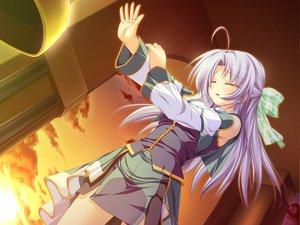 Rating: Safe Score: 11 Tags: alicia_infans bow game_cg long_hair magus_tale tenmaso whirlpool User: Oyashiro-sama