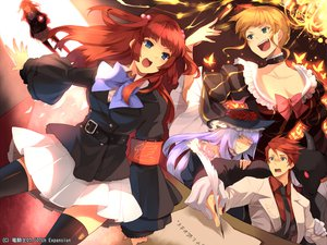 Rating: Safe Score: 52 Tags: beatrice blonde_hair blue_eyes hanokage male red_hair umineko_no_naku_koro_ni ushiromiya_ange ushiromiya_battler virgilia User: happygestapo
