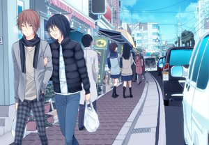 Rating: Safe Score: 33 Tags: 3u bakuman car city glasses kosugi nanamine_tooru seifuku User: opai
