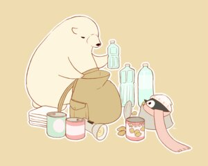 Rating: Safe Score: 16 Tags: animal bear brown chai_(artist) drink food hat nobody original penguin polychromatic scarf signed User: otaku_emmy
