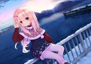 Rating: Safe Score: 41 Tags: blush fate/kaleid_liner_prisma_illya fate_(series) illyasviel_von_einzbern loli long_hair pink_hair sky taku_michi water winter User: BattlequeenYume