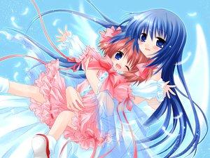 Rating: Safe Score: 8 Tags: lily_(w&l) sakurazawa_izumi tagme wanko wanko_to_lily wings User: Oyashiro-sama