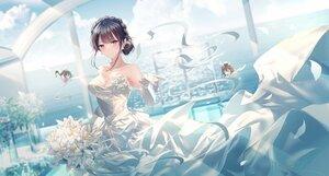 Rating: Safe Score: 83 Tags: junpaku_karen makinohara_shouko seishun_buta_yarou wedding_attire User: Fepple