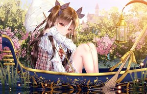 Rating: Safe Score: 82 Tags: boat brown_hair butterfly dress fate/grand_order fate_(series) flowers ishtar_(fate/grand_order) jpeg_artifacts junpaku_karen lolita_fashion long_hair red_eyes umbrella water User: BattlequeenYume