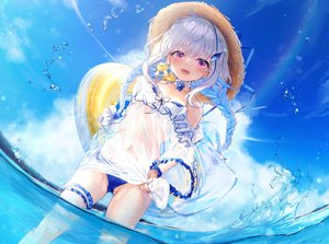 Rating: Safe Score: 109 Tags: lize_helesta nijisanji see_through swimsuit yunmi_0527 User: Fepple