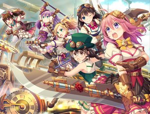 Rating: Safe Score: 55 Tags: airship animal_ears asagi_izumi blonde_hair blue_eyes bow braids breasts brown_eyes brown_hair cat_smile cleavage dress edogawabashi_michi fang garter glasses gloves goggles green_eyes group gun hat irina_leskova long_hair machina_yuina nijouin_kaoruko pastel_memories pink_hair ponytail purple_eyes purple_hair red_eyes sakaki_ayaka skirt sword tagme_(artist) thighhighs twintails weapon wink User: otaku_emmy