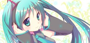 Rating: Safe Score: 26 Tags: hatsune_miku long_hair tagme_(artist) twintails vocaloid User: luckyluna