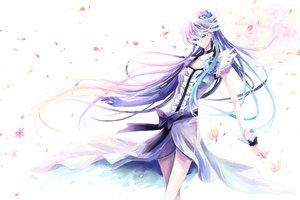 Rating: Safe Score: 47 Tags: blue_eyes dress futari_wa_precure long_hair nako_(nonrain) petals precure purple_hair User: Tensa