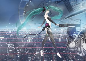 Rating: Safe Score: 93 Tags: aqua_eyes aqua_hair city guitar hatsune_miku instrument long_hair miku_append nello_(luminous_darkness) twintails vocaloid User: FormX