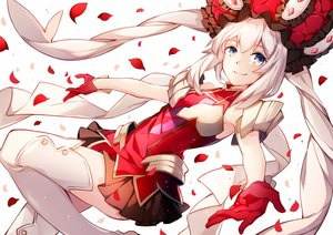 Rating: Safe Score: 72 Tags: armor blue_eyes boots fate/grand_order fate_(series) flowers gloves hat hizuki_miya long_hair marie_antoinette_(fate/grand_order) skirt thighhighs twintails white_hair User: BattlequeenYume