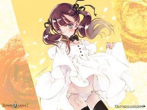 Rating: Safe Score: 7 Tags: dress littlewitch oyari_ashito panties ribbons rondo_leaflet thighhighs twintails underwear User: Oyashiro-sama