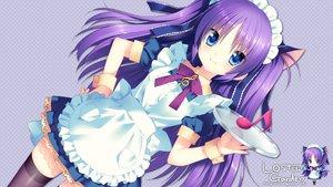 Rating: Safe Score: 178 Tags: blue_eyes blush chibi dress little_busters! long_hair maid purple_hair ribbons sakura_neko sasasegawa_sasami stockings User: Maboroshi
